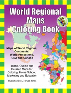 World Regions Maps Coloring Book