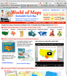 BJDesign.com World of Maps Editable Clip Art Maps Website