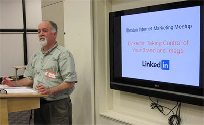 Bruce Speaking about Linkedin