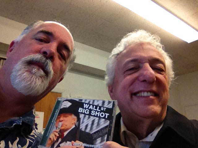 Jerry Wasserman with Bruce Jones looking at his new CD