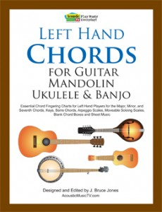 Left Hand Chords for Guitar, Mandolin, Ukulele and Banjo