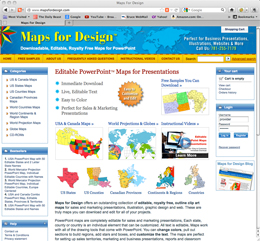 Maps for Design.com, Editable PowerPoint Maps for Presentation