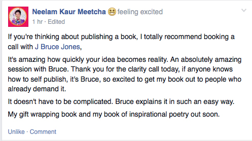Neelam quote on Bruce Jones publishing consulting