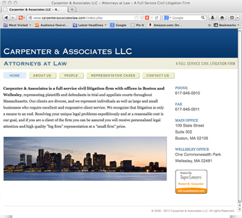 Carpenter & Associates Web Site
