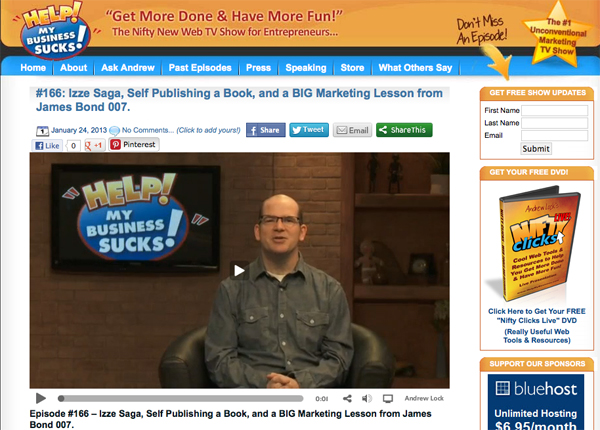 Andrew Lock and the Help My Business Sucks Web TV show