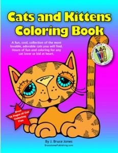 Cats and Kittens Coloring Book, Available at Amazon