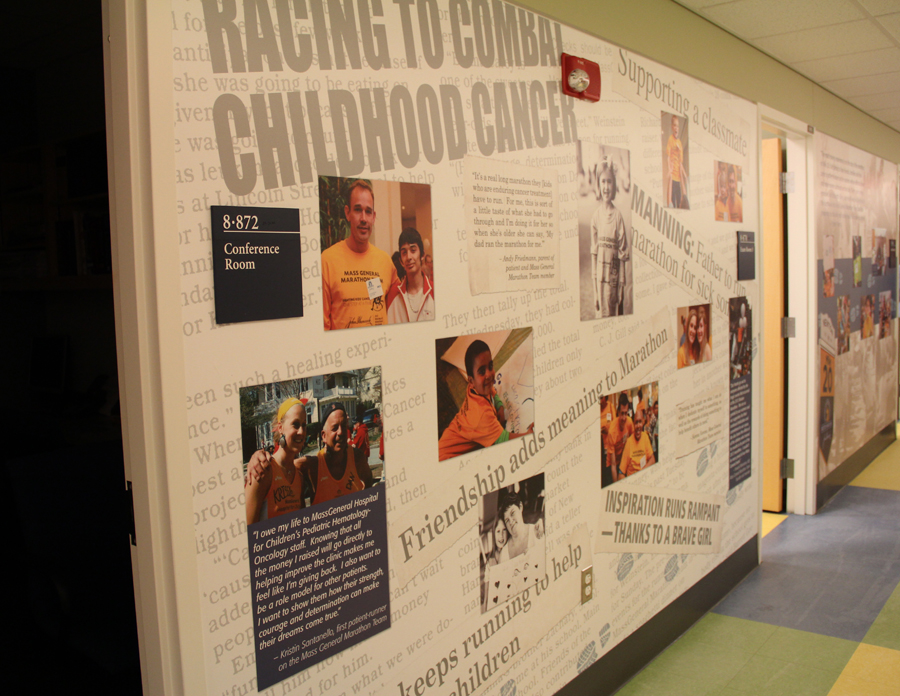 Press Wall. The wall shows some of the exposure this program has gotten over the years.