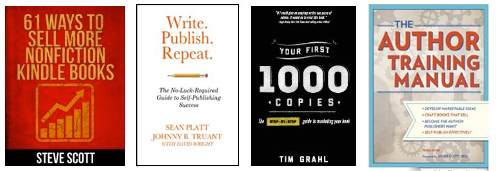 Four of my favorite books on marketing and selling books