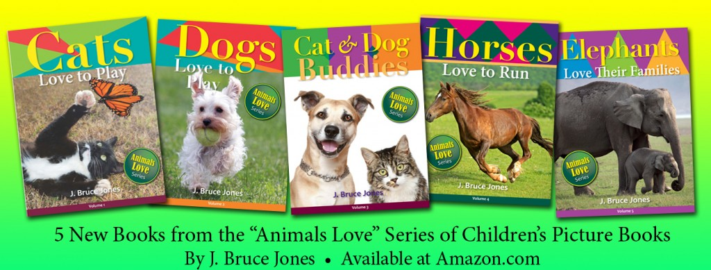5 New Children's Read Along Animal Picture Books by J. Bruce Jones