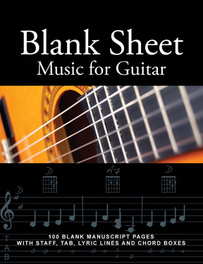 Blank Sheet Music Book