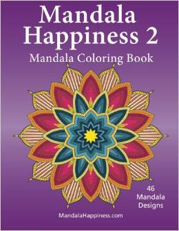 Mandala Happiness 2, Mandala Coloring Book