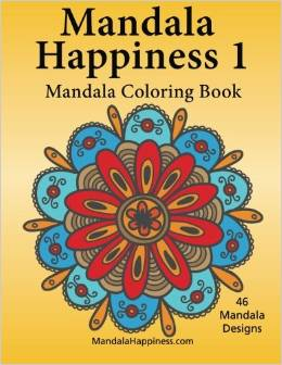 Mandala Happiness 1, Coloring Book