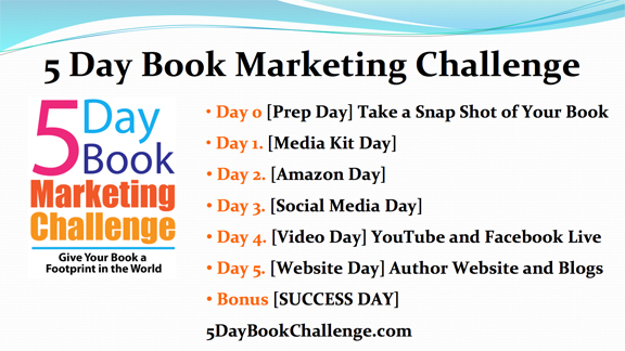 5 Day Book Marketing Challenge Schedule