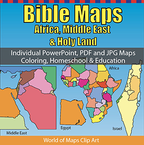 Bible Maps, Africa, Middle East & Holy Land