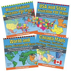 PDF Printable Map Sets
