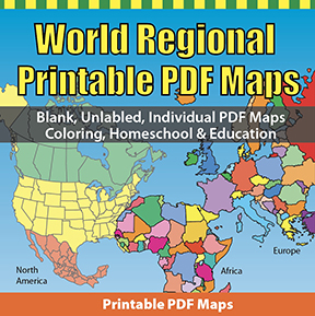 World Regional Printable PDF Maps