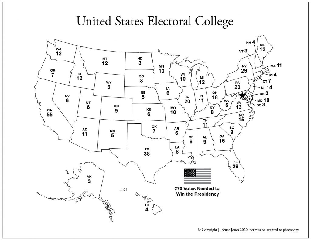 electoral College 2020 pdf worksheet