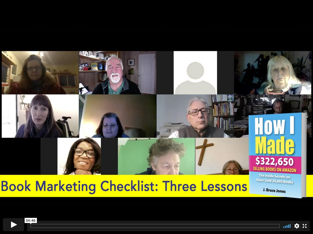 Book Marketing Checklist 3 lessons, zoom call