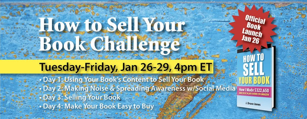 How to Sell Your Book Challenge BDJ Masthead