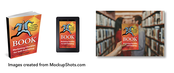 Cover mockup shots for your book media kit